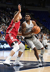 December 4, 2017 - University Park, PA, USA - Penn State guard Jamari Wheeler moves in toward the basket during a game against Wisconsin on Monday, Dec. 4, 2017 at the Bryce Jordan Center in University Park, Pa. (Credit Image: © Phoebe Sheehan/TNS via ZUMA Wire)