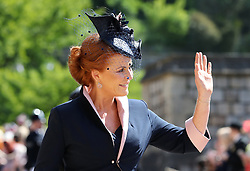 The Duchess of York arrives at St George's Chapel at Windsor Castle for the wedding of Meghan Markle and Prince Harry. PRESS ASSOCIATION Photo. Picture date: Saturday May 19, 2018. See PA story ROYAL Wedding. Photo credit should read: Gareth Fuller/PA Wire