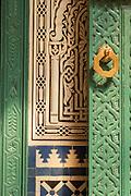 Door of Mahkama du Pacha in Casablanca, Morocco