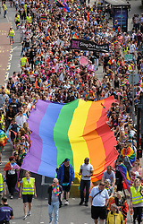 © Licensed to London News Pictures.  08/07/2017; Bristol, UK. Bristol Pride March on Pride Day at the end of Bristol's Pride week organised by the LGBT+ community. Picture credit : Simon Chapman/LNP