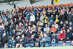South stand after Falkirk's Craig Sibbald goal.<br /> Falkirk 3 v 1 Alloa Athletic, Scottish Championship game played today at The Falkirk Stadium.<br /> © Michael Schofield.