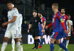 Referee Lee Probert during the Premier League match at Selhurst Park, south east London.
