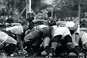 Twickenham, GREAT BRITAIN,      No. 8 Dean RYAN at the back of the scrum, during the premiership match, Harlequins vs London Wasps, played at The Stoop Memorial Ground. 10.1994<br /> <br /> [Mandatory Credit; Peter Spurrier/Intersport-images]