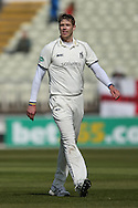 Warwickshire Boyd Rankin  during the Specsavers County Champ Div 1 match between Warwickshire County Cricket Club and Yorkshire County Cricket Club at Edgbaston, Birmingham, United Kingdom on 24 April 2016. Photo by Simon Davies.