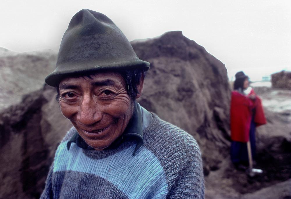 Farmers digging peat, Chimborazo Province, Ecuador