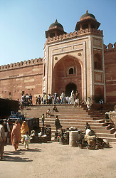 Royal gate at Fatehpur Sikri; ancient site near Agra; India,