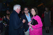 GERT-RUDOLPH FLICK;  UDO KITTELMANN, CORINNE FLICK;,  Hauser and Wirth cocktail reception. Palazzo Balbi-Valier, Dorsoduro 866, Venice, Venice Biennale, Venice. 5 May 2015