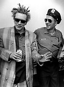 1986 Big Audio Dynamite Medicine Show Video Shoot. John Lydon and Strummer