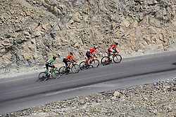 February 14, 2018 - Muscat, Oman - MUSCAT, SULTANATE OF OMAN - FEBRUARY 14 : Illustration picture of the escape of the day during stage 2 of the 9th edition of the 2018 Tour of Oman cycling race, a stage of 167.5 kms between Sultan Qaboos University and Al Bustan on February 14, 2018 in Muscat, Sultanate Of Oman, 14/02/2018 (Credit Image: © Panoramic via ZUMA Press)