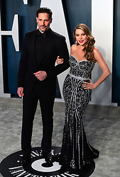 Joe Manganiello and Sofia Vergara attending the Vanity Fair Oscar Party held at the Wallis Annenberg Center for the Performing Arts in Beverly Hills, Los Angeles, California, USA.