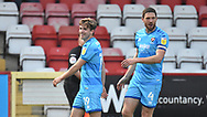Cheltenham Town's George Lloyd celebrates goal 0-1 during the EFL Sky Bet League 2 match between Stevenage and Cheltenham Town at the Lamex Stadium, Stevenage, England on 20 April 2021.