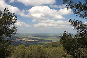 The view from mount Gilboa, Israel