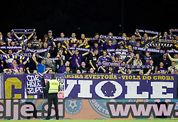 Viole, fans of Maribor during football match between NK Maribor and NK Celje in final of Slovenian Cup 2013 on May 29, 2013 in Stadium Bonifika, Koper, Slovenia. Maribor defeated Celje 1-0 and became Slovenian Cup Champion 2013. (Photo By Vid Ponikvar / Sportida)