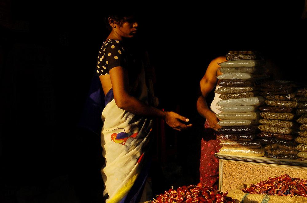 Transgender Minachi begs in Chennai, India.