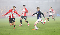 Middlesbrough's Hayden Coulson with a shot late in the game<br /> <br /> Photographer Rob Newell/CameraSport<br /> <br /> The Emirates FA Cup Third Round - Brentford v Middlesbrough - Saturday 9th January 2021 - Brentford Community Stadium - Brentford<br />  <br /> World Copyright © 2021 CameraSport. All rights reserved. 43 Linden Ave. Countesthorpe. Leicester. England. LE8 5PG - Tel: +44 (0) 116 277 4147 - admin@camerasport.com - www.camerasport.com