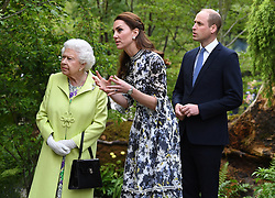 Members of The Royal Family attend the RHS Chelsea Flower Show at the Royal Hospital Chelsea, London, UK, on the 20th May 2019. 21 May 2019 Pictured: Queen, Queen Elizabeth, Catherine, Duchess of Cambridge, Kate Middleton, Prince William, Duke of Cambridge. Photo credit: James Whatling / MEGA TheMegaAgency.com +1 888 505 6342