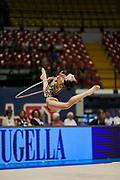 """Alessia Russo during the """"1st Trofeo Citta di Monza"""" tournament. On this occasion we have seen the rhythmic gymnastics teams of Belarus and Italy challenge each other. The Bilateral period was only June 9, 2019 at the Candy Arena in Monza, Italy."""