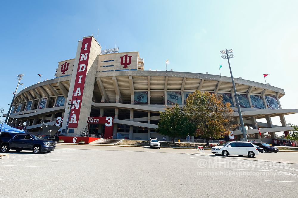 BLOOMINGTON, IN - SEPTEMBER 23: Indiana University Memorial Stadium is seen before the game against the Georgia Southern Eagles at Memorial Stadium on September 23, 2017 in Bloomington, Indiana. (Photo by Michael Hickey/Getty Images)