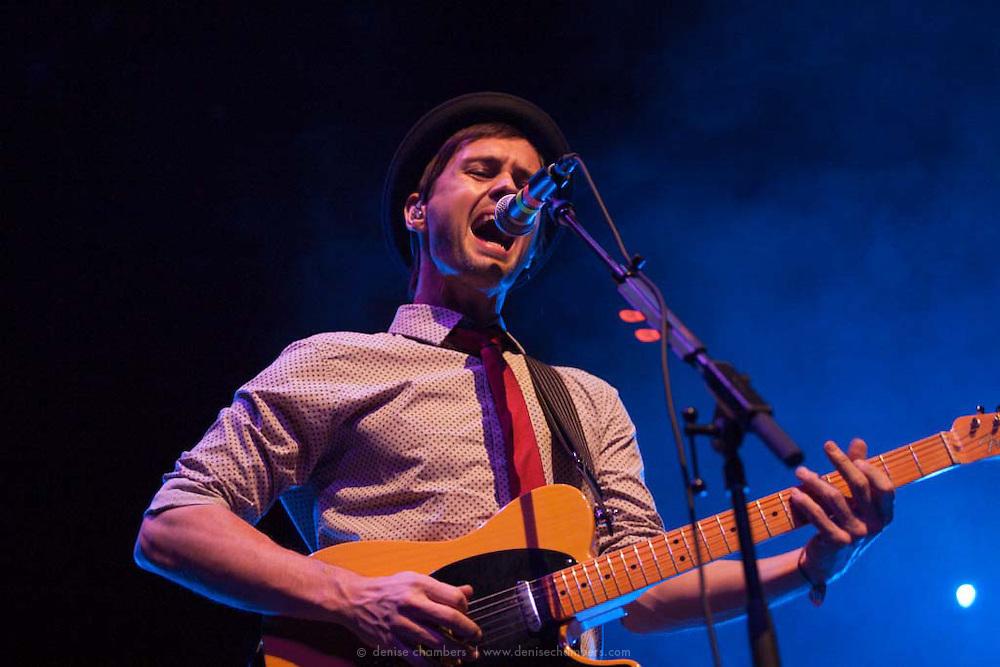 Keith Jeffery of Atlas Genuis performs on 24 March, 2013 at the Pikes Peak Center in Colorado Springs, Colorado