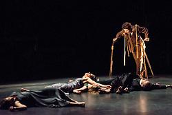 © Licensed to London News Pictures. 05/06/2013. Clod Ensemble's Zero, London Premier. Sadler's Wells Theatre, London. Picture features: Sarah Cameron & Co. Photo credit: Tony Nandi/LNP
