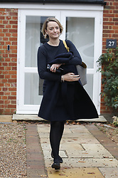© Licensed to London News Pictures. 15/11/2018. London, UK. BBC political journalist Laura Kuenssberg leaves the house of Dominic Raab after he resigned as Brexit secretary. Prime Minister Theresa May will make a statement to MPs in Parliament on the EU withdrawal agreement today after cabinet agreed on the proposal. Photo credit: Peter Macdiarmid/LNP