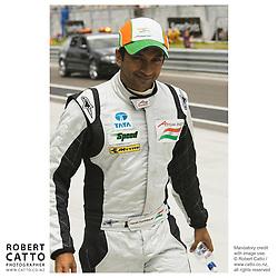 Narain Karthikeyan at the A1 Grand Prix of New Zealand at the Taupo Motorsport Park, Taupo, New Zealand.