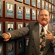 CANASTOTA, NY - JUNE 14: Referee Steve Smoger poses with his new ring and photo after the induction ceremony at the International Boxing Hall of Fame induction Weekend of Champions events on June 14, 2015 in Canastota, New York. (Photo by Alex Menendez/Getty Images) *** Local Caption ***  Steve Smoger