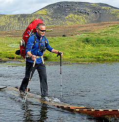 09-07-2014 ISL: Iceland Diabetes Challenge Dag 5, Emstrur<br /> Van Alftavatn naar Emstrur / Henk