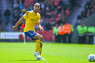 Darren Pratley of Charlton Athletic (15) passes the ball during the EFL Sky Bet League 1 play off first leg match between Doncaster Rovers and Charlton Athletic at the Keepmoat Stadium, Doncaster, England on 12 May 2019.