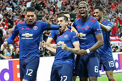 24-05-2017 SWE: Final Europa League AFC Ajax - Manchester United, Stockholm<br /> Finale Europa League tussen Ajax en Manchester United in het Friends Arena te Stockholm / Chris Smalling (Manchester), Henrikh Mkhitaryan (Manchester), Paul Pogba (Manchester), Marcus Rashford (Manchester)