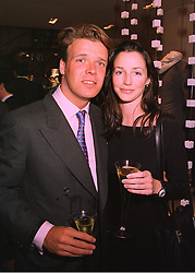 MR JOEL CADBURY former close friend of Jemima Khan and MISS SASHA COOKE, at a party in London on 24th February 1998.MFP 113