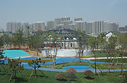 New construction in progress. Rizhao construction company, urban planning, Shandong, China