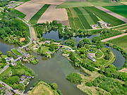 Nederland, Gelderland, Acquoy , 14-05-2020; Fort bij Asperen. Nabij het fort liggen inundatiesluizen voor het onder water zetten van de waterlinie. Het fort is tegenwoordig bekend als cultuurfort aan de Linge.<br /> Fort at Asperen. There are inundation sluices near the fort for flooding the water line. The fort is now known as a cultural fort on the Linge.<br /> <br /> aerial photo (additional fee required);<br /> copyright foto/photo Siebe Swart