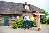 Koningin Maxima bezoekt melkveehouderij Ten Have