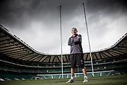 Eddie Jones, England Rugby manager, photogtraphed at Twickenham Stadium. Eddie Jones Portrait at Twickenham Stadium