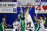 Knox in schiacciata<br /> Betaland Capo d'Orlando - Sidigas Avellino <br /> Campionato Basket Lega A 2017-18 <br /> Capo d'Orlando 22/04/2018<br /> Foto Ciamillo-Castoria