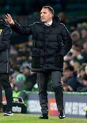 Celtic manager Brendan Rodgers during the Ladbrokes Scottish Premiership match at Celtic Park, Glasgow.