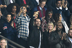 File photo - Kourtney Kardashian and her boyfriend Younes Bendjima, Robin Wright Penn and Clément Giraudet attend the UEFA Champions League group B match Paris Saint-Germain (PSG) v FC Bayern Munich at the Parc des Princes stadium on September 27, 2017 in Paris, France. Actress Robin Wright has reportedly married French fashion executive Clement Giraudet in a weekend ceremony. According to Vogue Paris, the Wonder Woman star became Mrs. Giraudet at an undisclosed location on Saturday. Photo by Laurent Zabulon/ABACARESS.COM