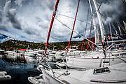 Split, Croatia, Yachts in the marina