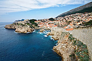 A perfect view of Dubrovnik, Croatia, from the city walls
