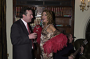 David Miller and Candace Bushnell. Candace Bushnell book party. Harington's. London. 1 February 2001. © Copyright Photograph by Dafydd Jones 66 Stockwell Park Rd. London SW9 0DA Tel 020 7733 0108 www.dafjones.com