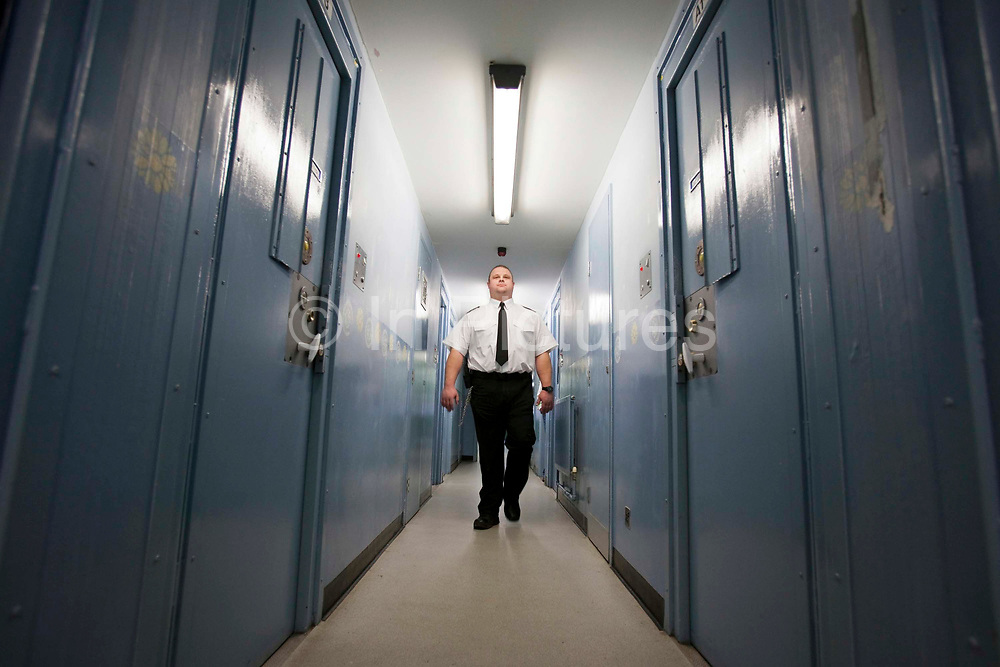 A male prison officer walks down the corridor of one of the residential wings. HM Prison Send is a Closed Category women's prison, located in the village of Send (near Woking), in Surrey, England. The prison is operated by Her Majesty's Prison Service. Send is a closed prison for adult females. In addition it also houses a 20 bed Addictive Treatment Unit, an 80 bed Resettlement Unit and a 40 bed Therapeutic Community. HMP Sends Education Department runs Key Skills courses and NVQs in Business Administration. The Farms and Gardens department offers Floristry NVQs, and the Works Department run an industrial workshop and painting party. Prisoners held in the Resettlement Unit can also do voluntary work, attend College courses and Work Placements in the outside community.