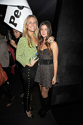 Left to right, GEORGIA FORBES and ALEXANDRA CRONIN at the Quintessentially Models party and fashion show at Whisky Mist, 35 Hertford Street, London W1 on 10th September 2008.