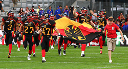 10.07.2011, Tivoli Stadion, Innsbruck, AUT, American Football WM 2011, Group A, Germany (GER) vs United States of America (USA), im Bild team germany enters the field // during the American Football World Championship 2011 Group A game, Germany vs USA, at Tivoli Stadion, Innsbruck, 2011-07-10, EXPA Pictures © 2011, PhotoCredit: EXPA/ T. Haumer