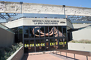 Entrance to the George C. Page Museum, located at the site of the La Brea Tar Pits in Los Angeles, California  in Hancock Park.