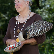 Salinan tribe elder Shirley Macagni who's ancestors built and decorated the Mission San Miguel.
