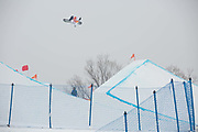 Yuri Okubo, Japan, during the mens Snowboard Slopestyle Qualifications at the Pyeongchang Winter Olympics on the 10th February 2018 in Phoenix Snow Park in South Korea