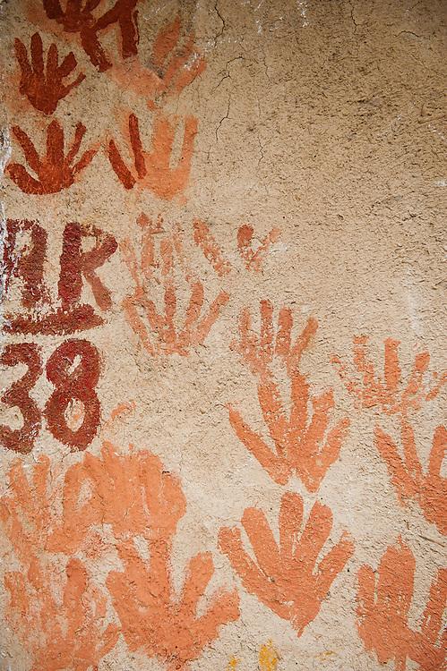 A painted wall in Hauz Khas village, New Delhi
