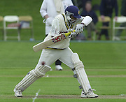 Shenley Middlesex Sri Lanka Tour Match<br /> Middlesex vs Sri Lanka <br /> Photo Peter Spurrier<br /> 11/05/2002<br /> Sport - Cricket - Middlesex vs Sri Lanka -Shenley:<br /> Jayawardene, moves his bat out of the way of the ball. [Mandatory Credit:Peter SPURRIER;Intersport Images]