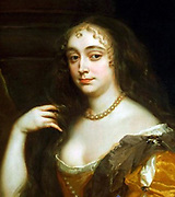 Anne Hyde (1637-1671) by  Sir Peter Lely. Lady Anne Hyde, Duchess of York (22 March 1638 – 10 April 1671) first wife of James, Duke of York (the future King James II of England and VII of Scotland), and the mother of two monarchs, Mary II of England and Scotland and Anne of Great Britain.[2]